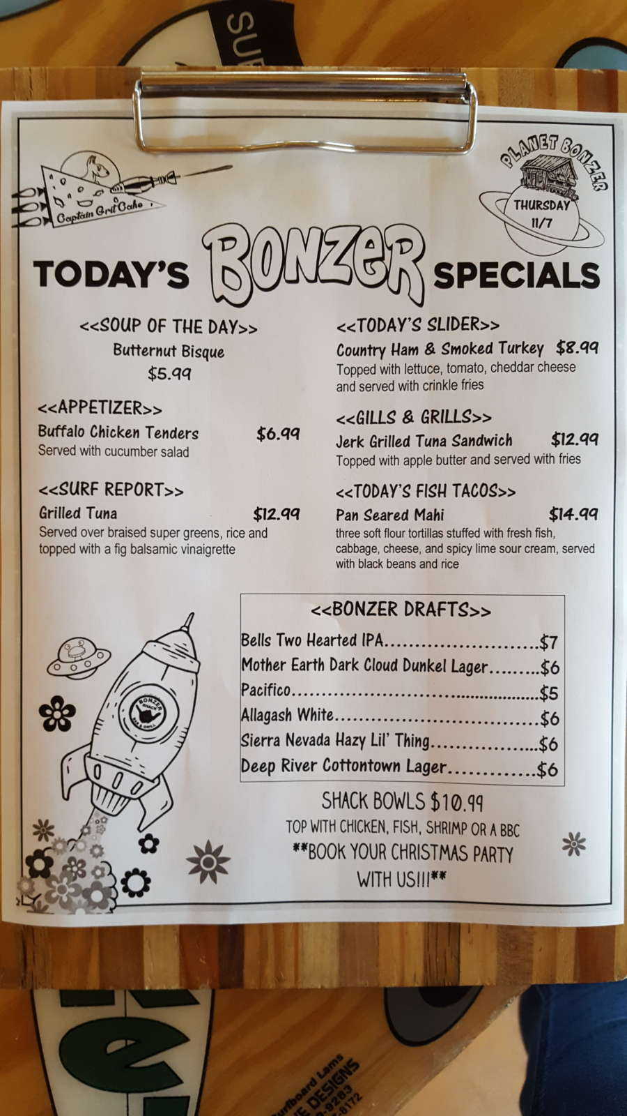 Lunch Specials 11/7