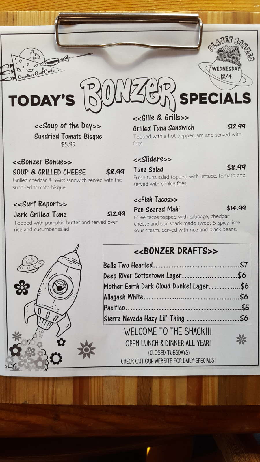 Lunch Specials 12/4