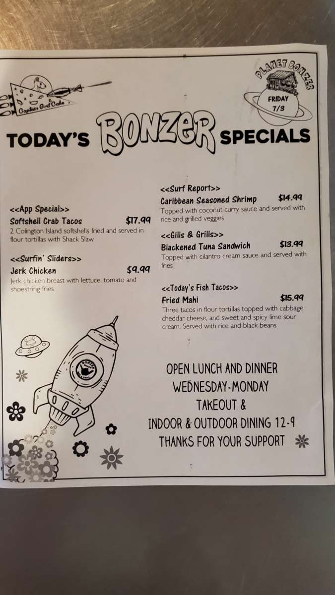 Lunch specials 7/3