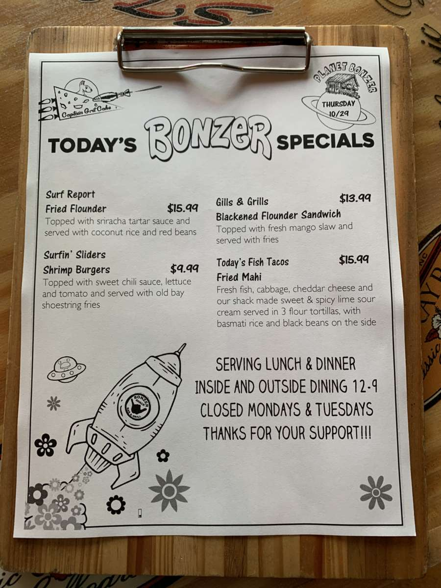 LUNCH SPECIALS 10/29