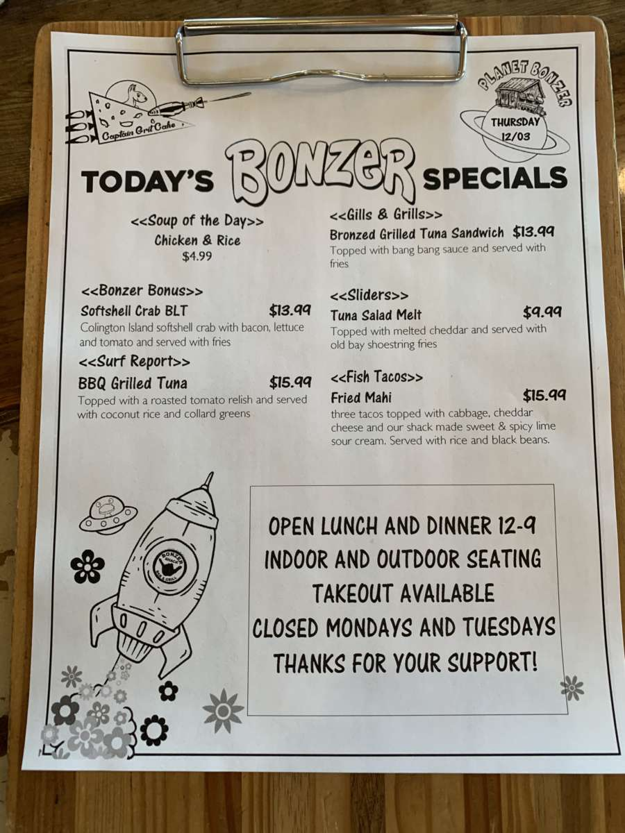 LUNCH SPECIALS 12/03