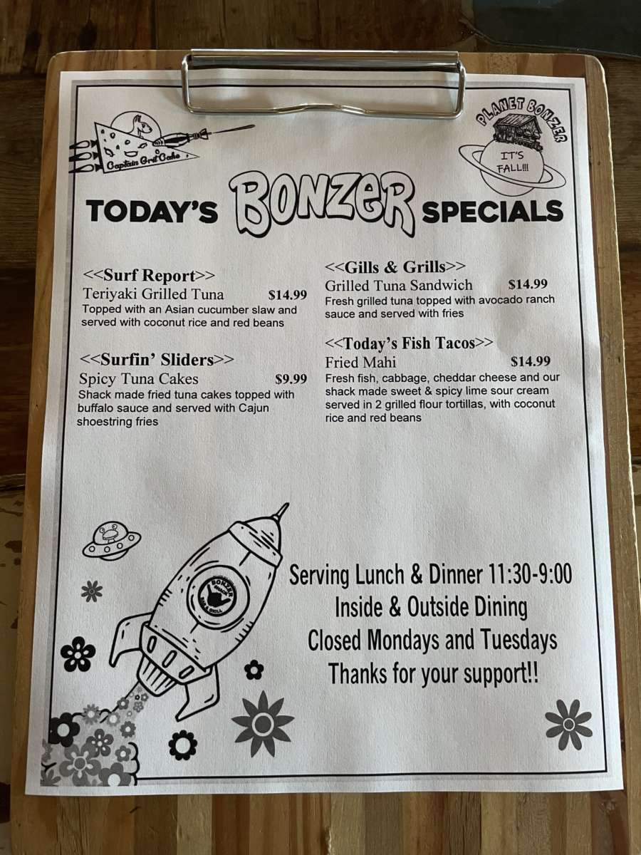 LUNCH SPECIALS   09/22