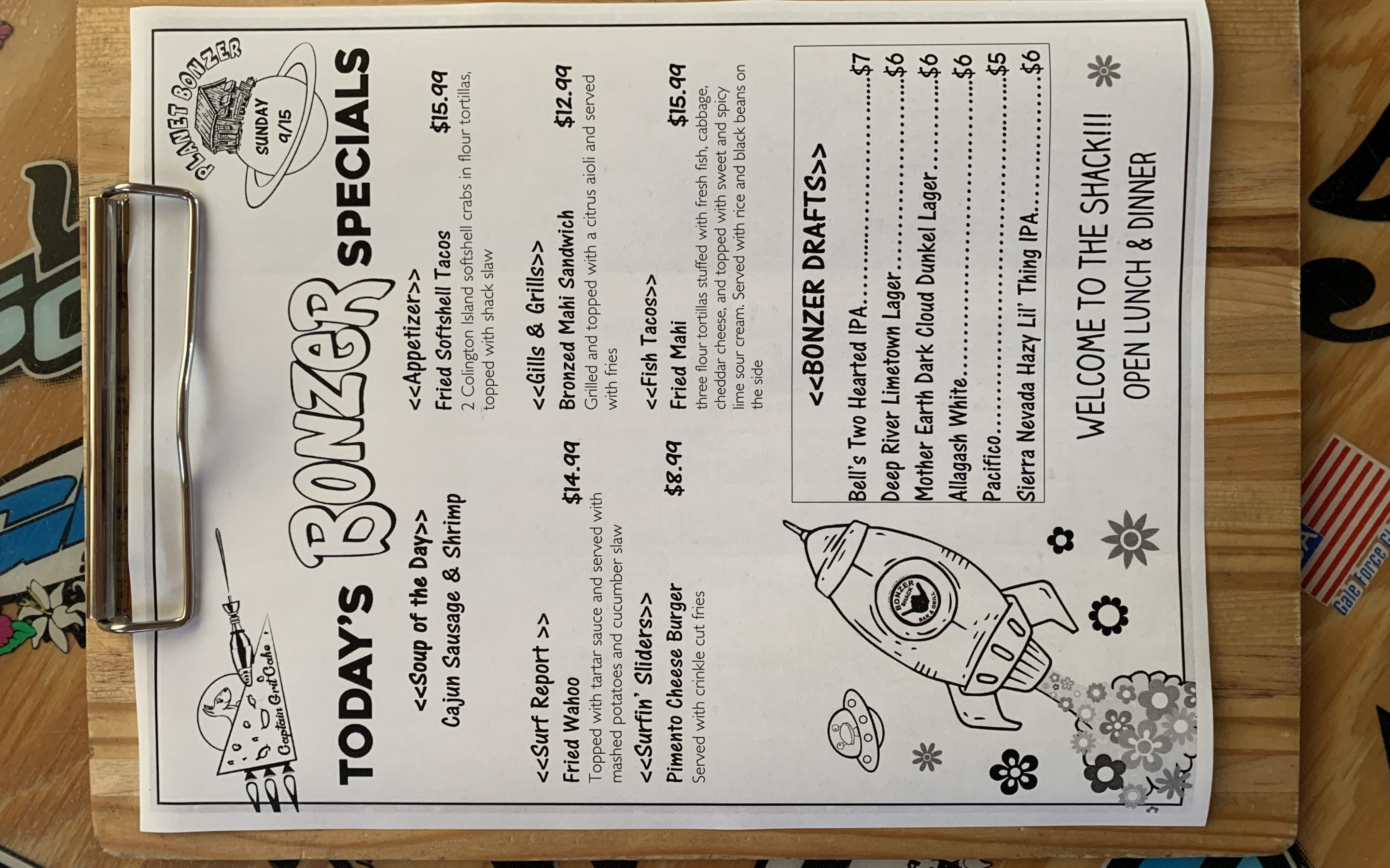 LUNCH SPECIALS 9/15