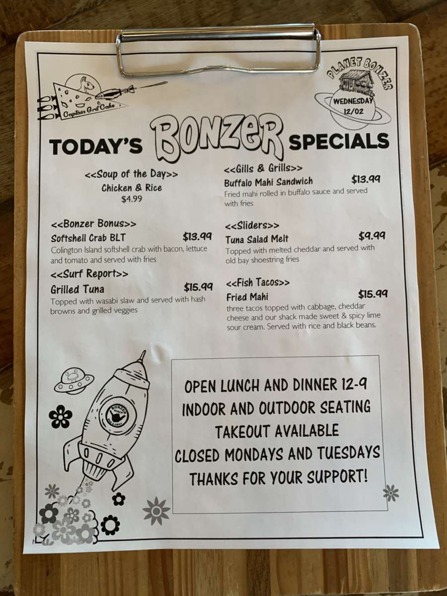 LUNCH SPECIALS  12/02
