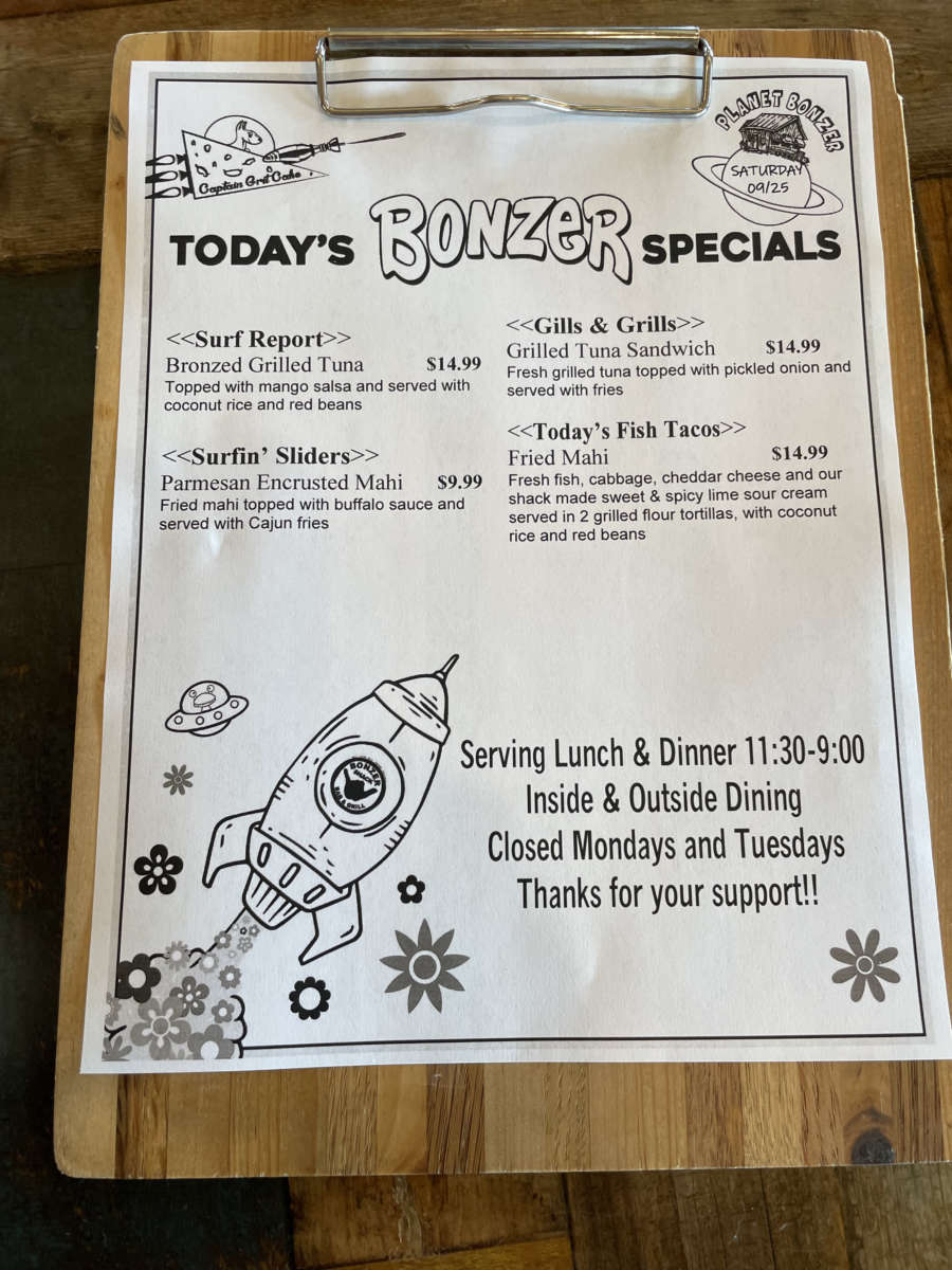 LUNCH SPECIALS   09/25