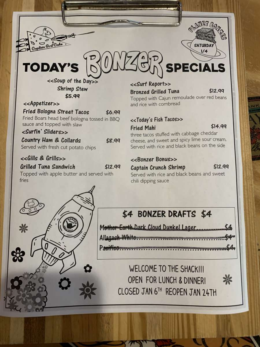 LUNCH SPECIALS 1/4