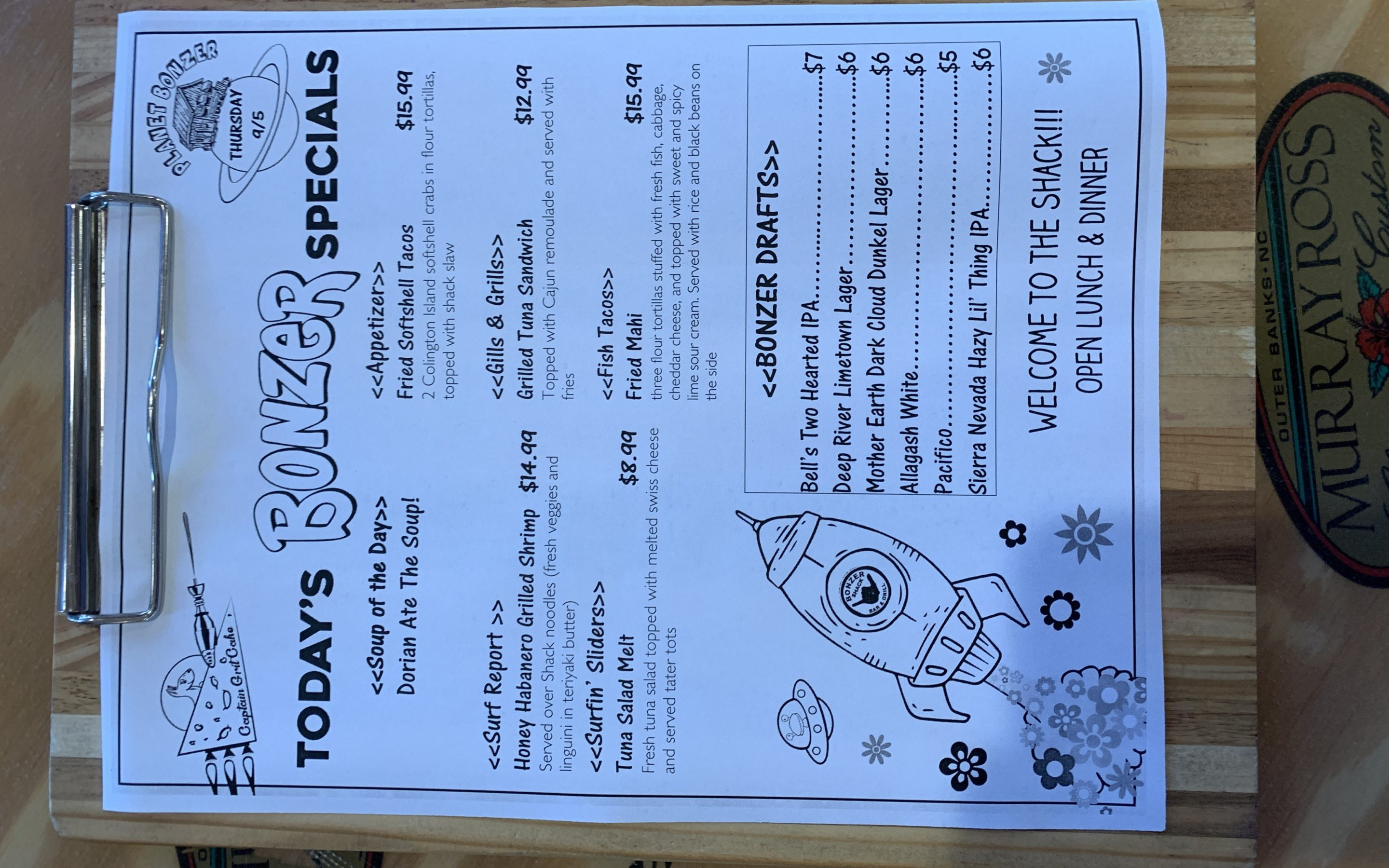LUNCH SPECIALS 9/5