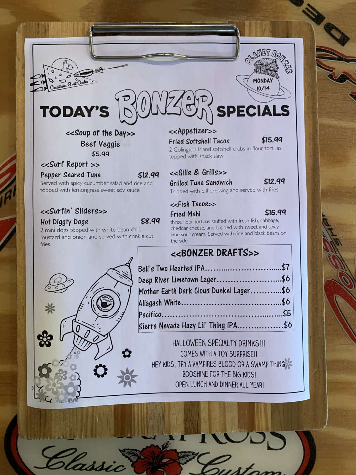 LUNCH SPECIALS 10/14