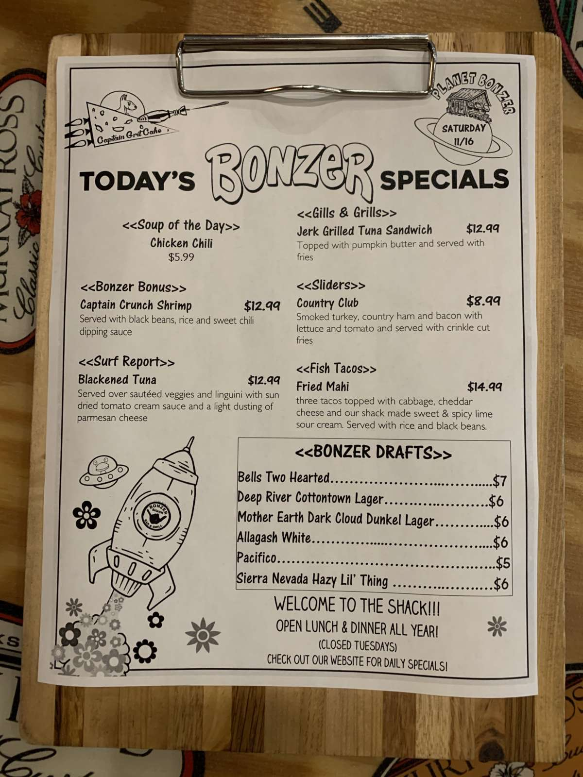 LUNCH SPECIALS 11/16