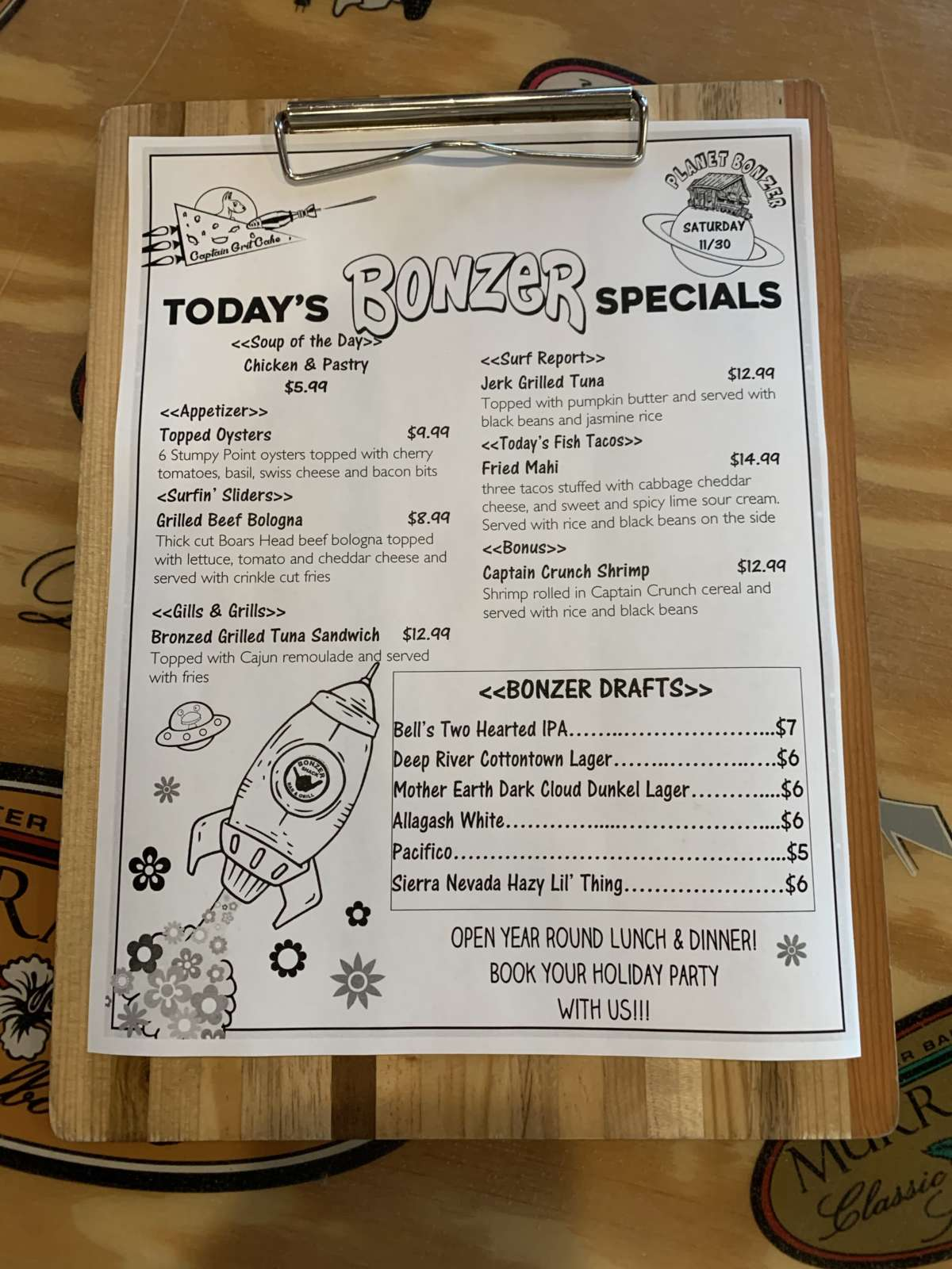 LUNCH SPECIALS 11/30