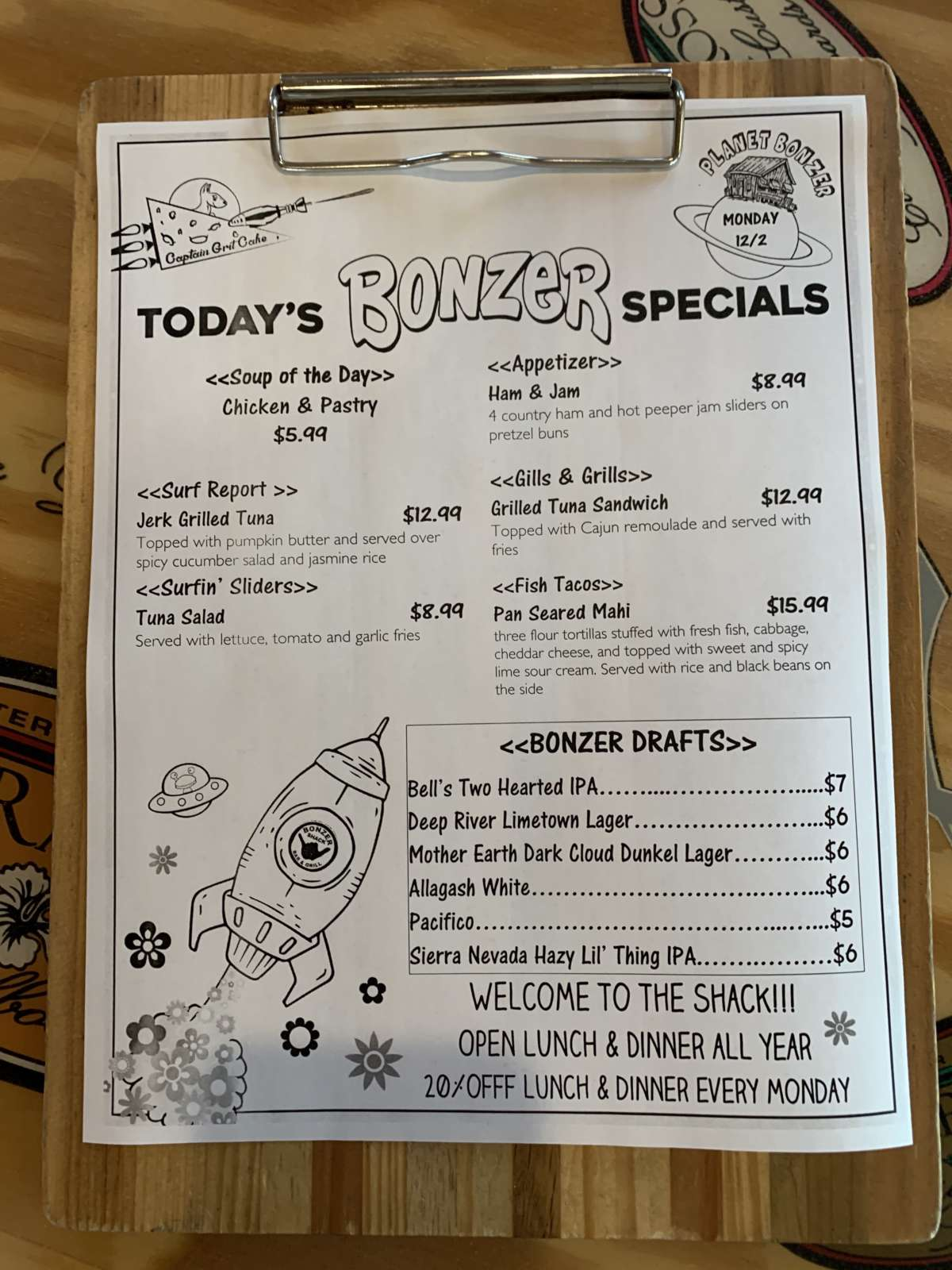 LUNCH SPECIALS 12/2